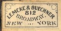 Lemcke & Buechner, New York (19mm x 9mm, ca.1894)