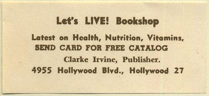 Let's Live! Bookshop, Hollywood, California (69mm x 31mm)