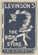 Levinson's, The Book Store, Sacramento (21mm x 31mm, ca. 1968)