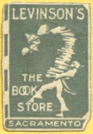 Levinson's, The Book Store, Sacramento (21mm x 31mm, ca.1968)