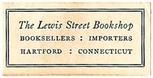 The Lewis Street Bookshop, Hartford, Connecticut (35mm x 17mm). Courtesy of S. Loreck.