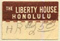 The Liberty House [dept store], Honolulu, Hawaii (19mm x 13mm, with tear-off)