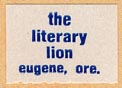 The Literary Lion, Eugene, Oregon (19mm x 13mm, ca. 1980s).