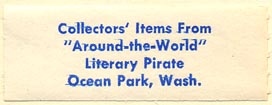 Literary Pirate, Ocean Park, Washington (44mm x 16mm)