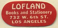 Lofland, Books and Stationery, Los Angeles, California (30mm x 14mm)