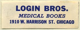 Login Bros., Medical Books, Chicago, Illinois (45mm x 16mm)
