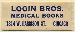 Login Bros., Medical Books, Chicago, Illinois (39mm x 16mm)