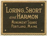 Loring, Short and Harmon, Portland, Maine (26mm x 20mm)