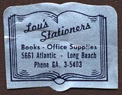 Lou's Stationers, Long Beach, California (28mm x 22mm)
