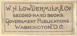 W.H. Lowdermilk & Co, Washington, DC (42mm x 19mm, ca.1880s?)