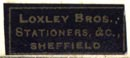 Loxley Bros., Stationers &c., Sheffield [England] (20mm x 8mm)