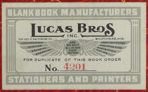 Lucas Brothers, Baltimore, Maryland (98mm x 57mm, ca.1929)