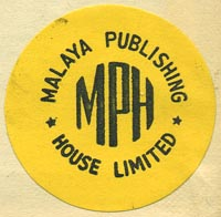 Malaya Publishing House, Ltd., Singapore (32mm dia., ca.1950)