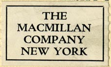 The Macmillan Company, New York (38mm x 24mm, after 1928)
