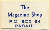 The Magazine Shop, Rabaul, Papua New Guinea (31mm x 18mm)