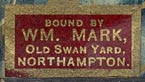 William Mark, Northampton (23mm x 12mm, ca.1856)