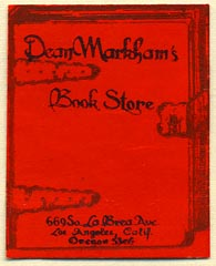 Dean Markham's Book Store, Los Angeles, California (31mm x 39mm)