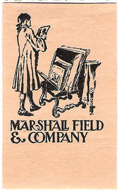 Marshall Field  & Company, Chicago, Illinois (38mm x 62mm)