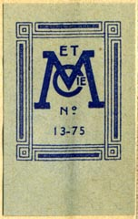 Masson et Cie., Paris, France (25mm x 39mm, ca.1951)