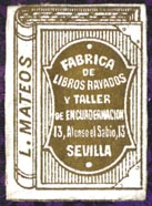L. Mateos, Sevilla [Spain] (21mm x 29mm)