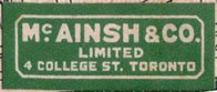 McAinsh & Co. Ltd., Toronto, Canada (32mm x 12mm, ca. 1925). Courtesy of Brian Busby.