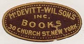 McDevitt-Wilson's Books, New York, NY (26mm x 13mm)