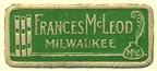 Frances McLeod, Milwaukee, Wisconsin (23mm x 10mm)