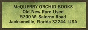 McQuerry Orchid Books, Jacksonville, Florida (46mm x 15mm)