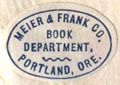 Meier & Frank Co., Book Department, Portland, Oregon (20mm x 14mm)