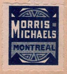 Morris Michaels, Montreal, Canada (18mm x 22mm, ca. 1922). Courtesy of Brian Busby.