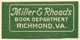 Miller & Rhoads [dept store], Richmond, Virgina (26mm x 13mm)