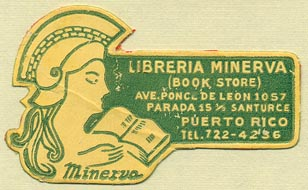 Libreria Minerva, Santurce [San Juan], Puerto Rico (48mm x 30mm). Courtesy of Donald Francis.