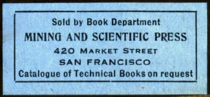 Mining and Scientific Press, San Francisco, California (50mm x 23mm)