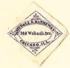 Mitchell & Hatheway, Chicago, Illinois (23mm x 23mm). Courtesy of S. Loreck.