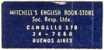 Mitchell's English Book-Store, Buenos Aires, Argentina (37mm x 15mm)
