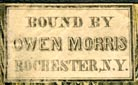 Owen Morris [Binder], Rochester, New York (22mm x 14mm, ca.1840s)