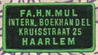 Fa.H.N. Mul, Intern. Boekhandel, Haarlem [The Netherlands] (22mm x 12mm, after 1926)