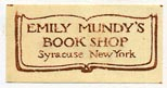 Emily Mundy's Book Shop, Syracuse, New York (24mm x 12mm)