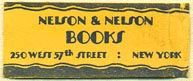 Nelson & Nelson Books, New York, NY (31mm x 13mm)