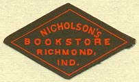 Nicholson's Bookstore, Richmond, Indiana (33mm x 19mm)