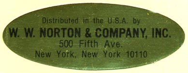 W.W. Norton & Company, New York, NY (64mm x 24mm)