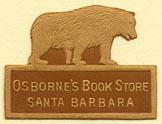 Osborne's Book Store, Santa Barbara, California (26mm x 19mm). Courtesy of Donald Francis.