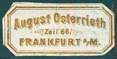 August Osterrieth, Frankfurt-am-Main, Germany (26mm x 13mm, ca.1880s?).