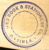 Oxford Book & Stationery Co., Simla, India (26mm dia.). Courtesy of Robert Behra.