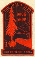 The Palo Alto Book Shop, Palo Alto, California (19mm x 31mm). Courtesy of Donald Francis.