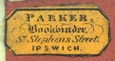 Parker, Bookbinder, Ipswich, England (17mm x 8mm). Courtesy of Robert Behra.