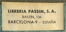 Libreria Passim, Barcelona, Spain (15mm x 35mm, before 1967).