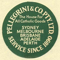 Pellegrini & Co., Sydney, etc., Australia (32mm dia.). Courtesy of Donald Francis.