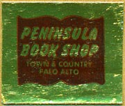 Peninsula Book Shop, Palo Alto, California (29mm x 25mm). Courtesy of Donald Francis.