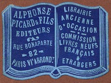Alphonse Picard & Fils, Paris, France (37mm x 26mm, ca.1900?).